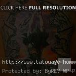 tatouage homme épaule guerrier